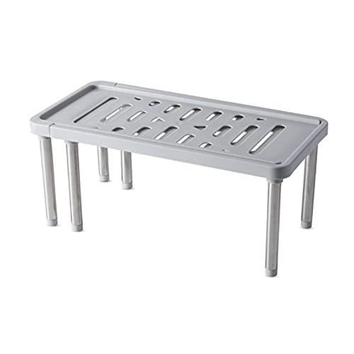 Hwtcjx estante adicional, organizador bajo fregadero, 1 pieza bajo fregadero,Hecho de PP y acero inoxidable, Fuerte y robusto, ajustable, para cocinas, armarios, baños (34.8 x 18 x 15.5cm, gris)
