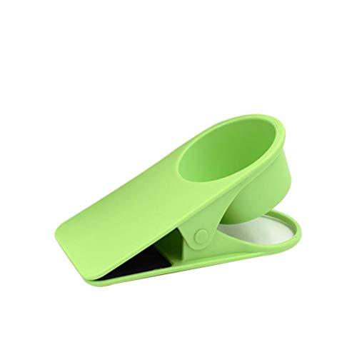 BASOYO Portavasos Abrazadera de Escritorio con Clip, Almacenamiento de refrigerios y Accesorios con Abrazadera Reforzada - Sostiene teléfonos, Suministros de Oficina - Ideal para escritorios o mesas