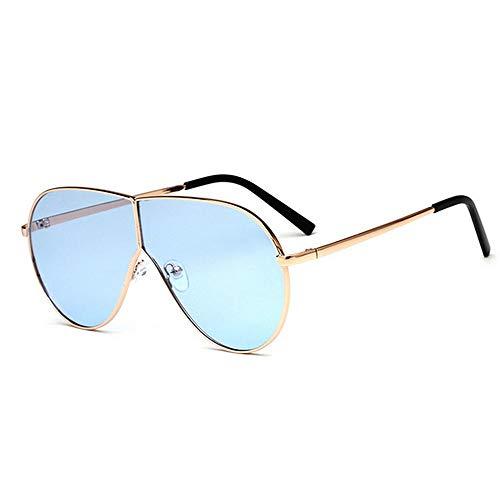 KDOAE Gafas de Sol para Mujer Unisex de Gran tamaño Gafas de Sol de Moda UV400 Gafas de Sol de conducción de conducción Beach Alquiler de Bicicletas Verano Protección UV Ligera (Color : C6)