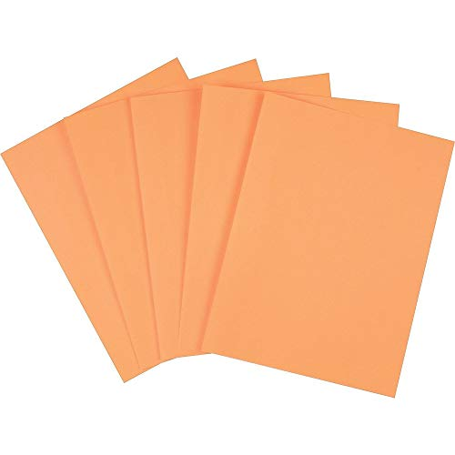 Staples 490881 Brights Colored Paper 8 1/2-Inch x 11-Inch Orange 500/Ream