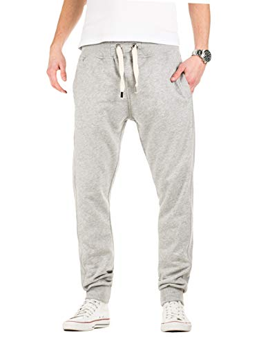 Yazubi Herren Jogginghose Edward - graue Sweathose - Sweatpants Männer Trainingshosen Slim-Fit Jogginghosen Sport Hose, Grau (Storm Gray 154003), M
