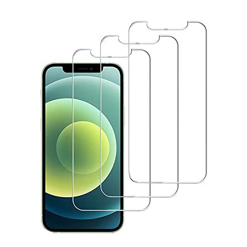Lwxfxbh Vidrio Protector de 3 unids para i-Phone 11 12 Mini Pro...