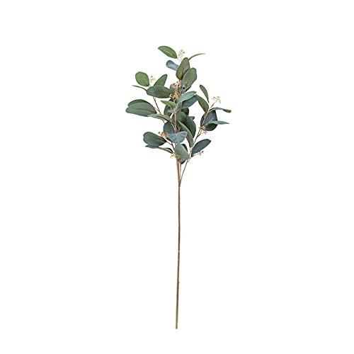 AOIWE Eucalyptus Plant Eucalyptus Garland Artificial Artificial Leaves Green Artificial Leaves Outdoor Plant Accessory Artificial Leaves Autumn red (Color : Green 1)