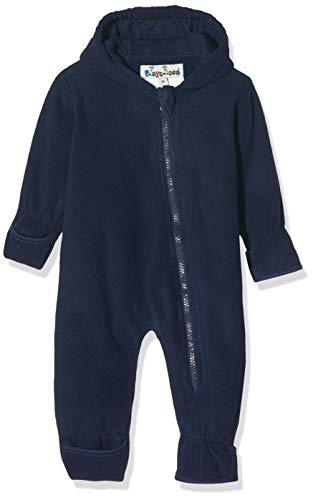 Playshoes Baby-Unisex Fleece-Overall Uni Strampler, Blau (Marine 11), (Herstellergröße: 62)