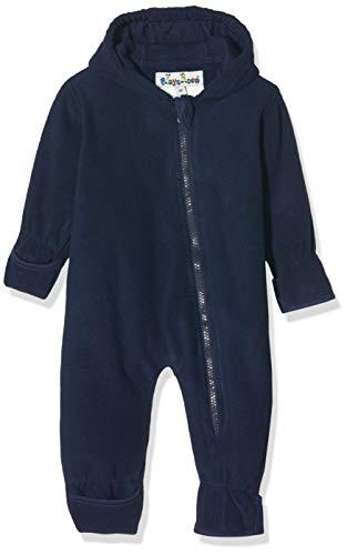 Playshoes Baby-Unisex Fleece-Overall Uni Strampler, Blau (Marine 11), (Herstellergröße: 86)