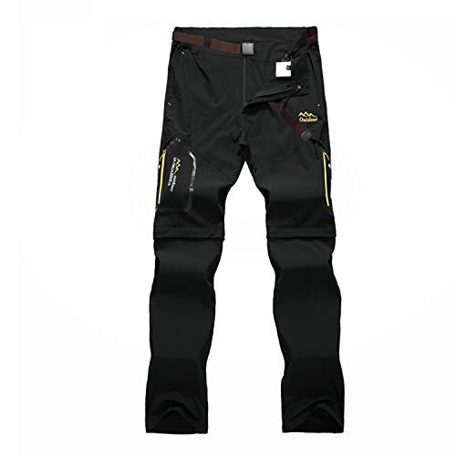 BWBIKE Pantaloni da Trekking da Uomo Pantaloni da Trekking Asciutti Quick Pantaloni da Trekking con Cintura per Il Campeggio di Arrampicata