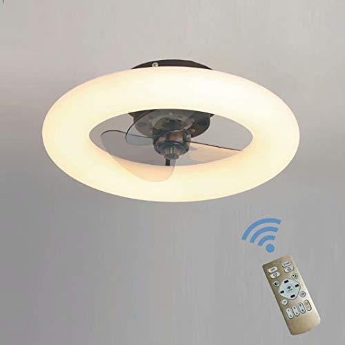 Regulable con mando a distanciaventilador de techo, con luces LED, velocidad del viento ajustable, modernas plafones LED de 48W para iluminación decorativa en el dormitorio, salón y comedor