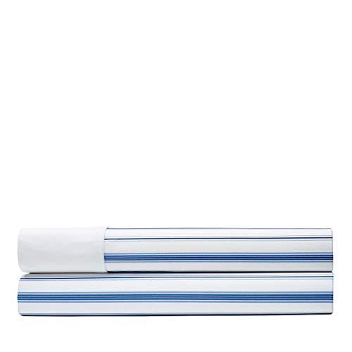 Ralph Lauren Dorsey Job's Lane Stripe Full Fitted Sheet Blue White