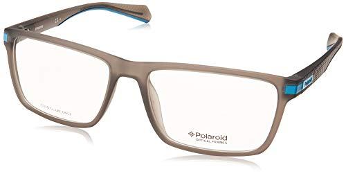 Polaroid Herren PLD D354 Sonnenbrille, Gerã¤uchert Grau - Tã¼rkis, 56
