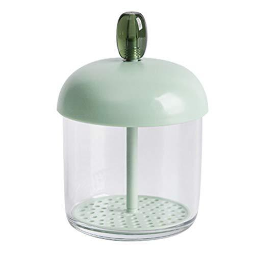 HEALLILY Schaumstoffhersteller für Gesichtsreinigung Gesichtsreinigungsschäumer Tragbarer Bubbler Maker Handbuch Bubbler Schaum Seifenmacher für Gesichtsreiniger Duschgel (Grün) 1St