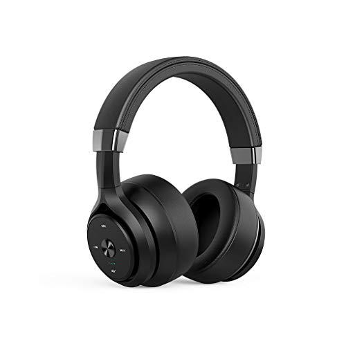Wireless Headset Headset Bluetooth Heavy Bass Quad-core Dual-action Coil Noise Reduction Lego Sound Quality Lossless Headset Full-inclusive Ear Phone Computer For Huawei Apple Xiaomi ( Color : Black )