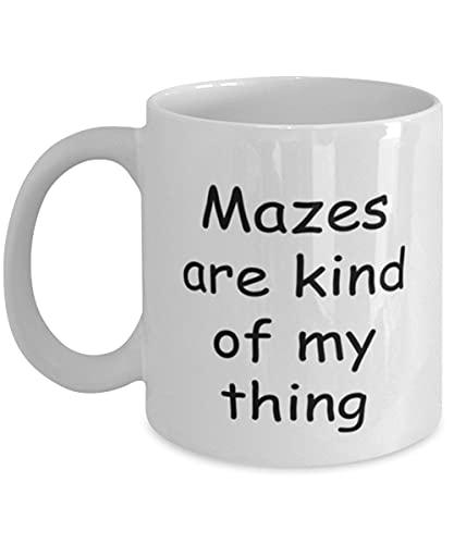 Mazes (interior/exterior) Taza de café, laberintos (interior/exterior) Kind Of My Thing, taza, taza de té, coleccionista, amante, día de San Valentín