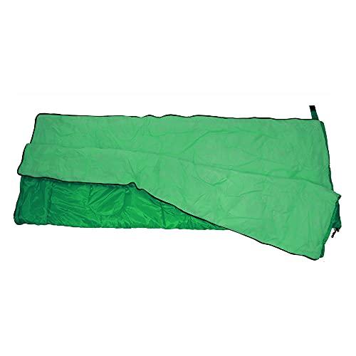 Saco De Dormir con Cierre De Cremallera 70x190cm para Camping Senderismo Color Verde O Azul (Verde)