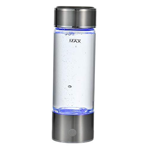 LOVEPET Bottiglia di Acqua Idrogenata Portatile da 3 Minuti Generatore di Idrogeno Ad Alta Concentrazione Bottiglia di Vetro Generatore di Acqua Alcalina Antinvecchiamento da 420 Ml, 7 * 7 * 23 Cm