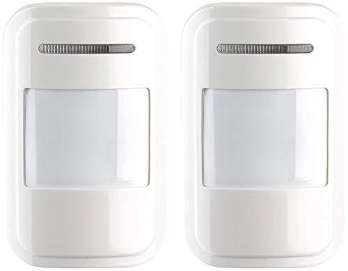 VisorTech Zubehör zu GSM-Haus-Alarmanlage: 2er-Set Funk-PIR-Sensoren für Alarmanlage XMD-4200/4400.pro/5400.WiFi (Haus-Alarm)