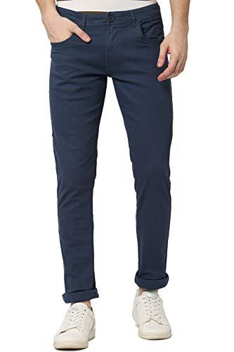 Peter England Men's Skinny Fit Casual Trousers (PJTFJSKP220264_Green_36W x 34L)
