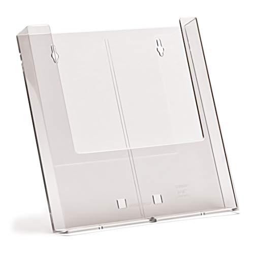 taymar Prospektständer/Wandprospekthalter, DIN A4, Transparent