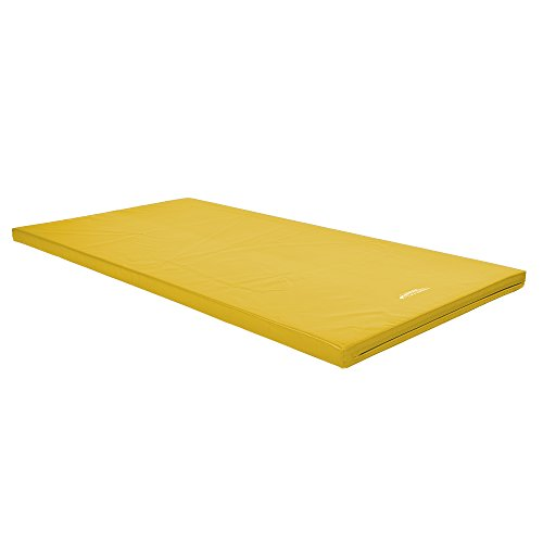 Grevinga Colchoneta de gimnasia amarillo Talla:200 x 100 x 4 cm