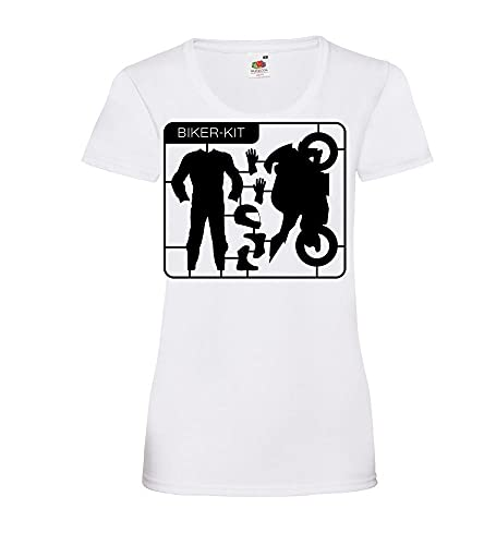 Shirt84.de - Camiseta de manga corta para mujer Blanco L