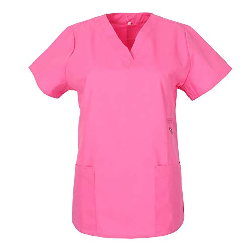 MISEMIYA - Arbeitskleidung Frau Kurze ÄRMEL UNIFORM KLINIK Krankenhaus Reinigung TIERARZT Gesundheit GASTGEWERBE Ref.707 - Medium, Pink