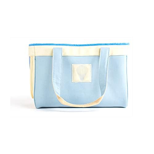 MH-RING Bolso de Lona para Mascotas con un Solo Hombro, Bolso de Moda para Perros y Gatos con Diseño de Ventilación Oculta, Hebilla de Seguridad para Mascotas Incorporada (Color : Blue)