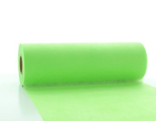 Tischläufer Apfel-GRÜN Tischband Lime aus stoffähnlichem Vlies in 30cm x 20m, abwaschbar, ideal zur Dekoration der Geburtstags-Feier, Party, Hochzeit, Taufe, Kommunion oder Weihnachten,