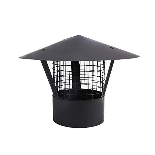 Protector contra pájaros para Chimenea, Acero Inoxidable 304, Tapa Negra para Tubo de Humos, Parte Superior de ventilación, Extremo del Tubo de Escape, Gorro de Lluvia para Nieve, Protector de