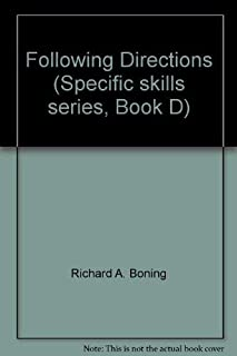 Following Directions (Specific skills series, Book D)