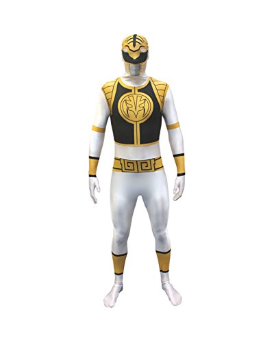Morphsuits - Costume per Travestimento da Power Rangers, Adulto, Taglia: L, Colore: Bianco