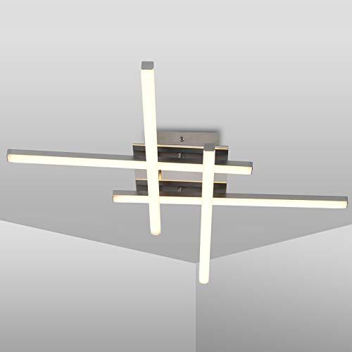 Plafoniera LED Soffitto, Lampada da Soffitto dal Design Lineare, Lampadari LED Moderno da 24W, luce bianca neutra 4000K, 2.000Lumen, Lampadario Soffitto perSoggiorno, Camera da Letto e Corridoi