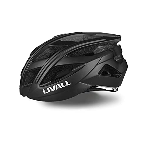 LIVALL BH60SE Smart Helmet with Auto Sensor LED,Turn Signal Tail Lights,Connects via Bluetooth for Music&Calls, Certified Comfortable Smart Bike Helmet (BLACK)