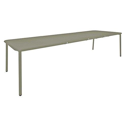 emu Yard aluminium tuintafel uittrekbaar LxBxH 160+55+55x97,5x74cm grijs/groen/gepoedercoat.