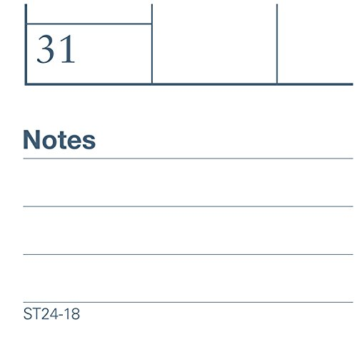 """AT-A-GLANCE Academic Desk Pad Calendar, July 2017 - June 2018, 22"""" x 17"""", Two-Color (AYST2417) Photo #2"""