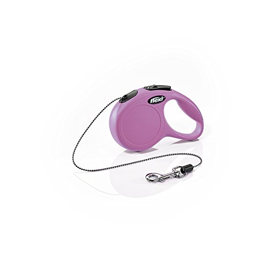FLEXI New Classic Retractable Dog Leash (Cord), 10 ft, Extra Small, Pink