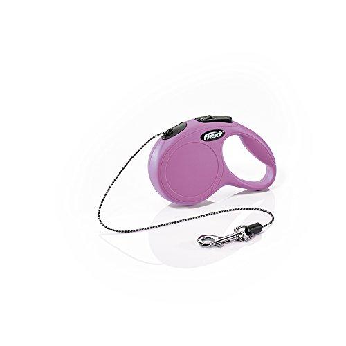 FLEXI Hundeleine, einziehbar, Größe XS, 3 m, Pink