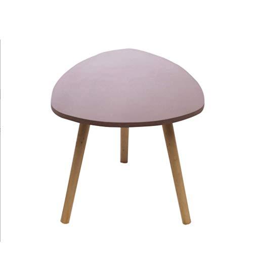 Table Basse en Bois Massif Minimaliste Moderne Table d'appoint Multifonctions Portable Petit thé Salon Chambre à Coucher Terrasse
