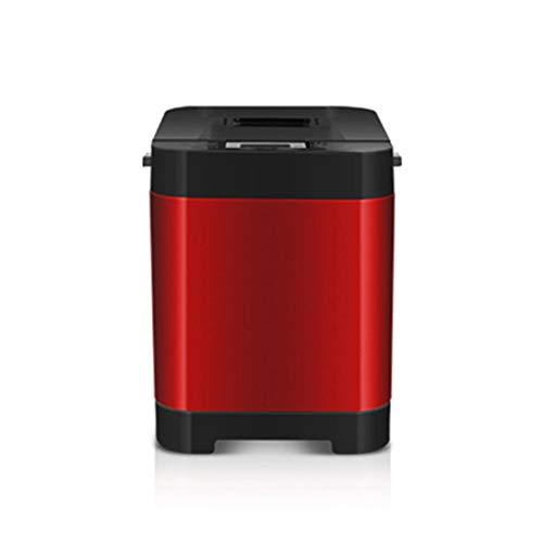YLEI Edelstahl Brotbackautomat, Brotbackmaschine mit 18 Backprogramme, Timer- und Warmhaltefunktion, Brotgröße und Kruste einstellbar, 450W,Rot