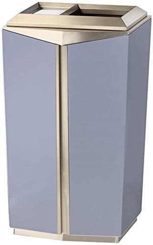 Vuilnisbakken Creative vierkante prullenbak zitten/buitenspiegel outdoor vuilnisbakken met asbak lobby lift hergebruik van compostbakken van h zoals vuilnisbakken bv Grootte: 16.55 * 11.82 * 31.52in