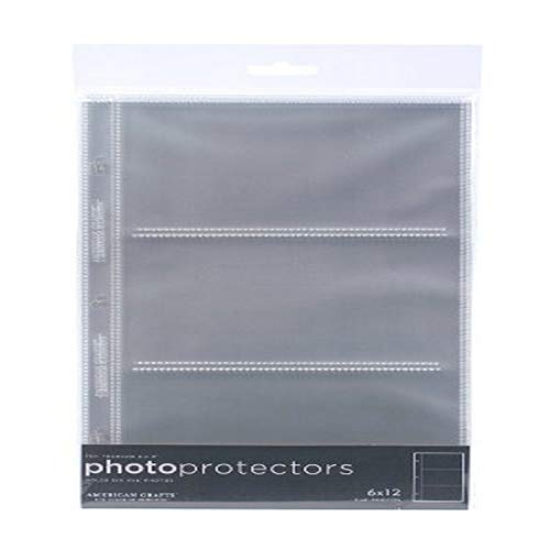6 x 12-inch 3-Ring Album Page Protectors by American Crafts | Includes 10 sheets
