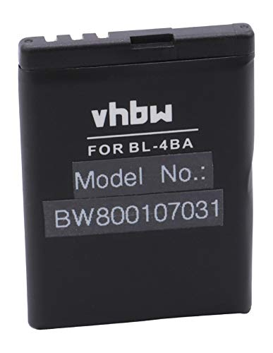 vhbw batteria compatibile con Nokia 1606, 2505, 2630, 2660, 2760, 3606, 5000, 6111 smartphone cellulare telefono cellulari (750mAh, 3,7V, Li-Ion)