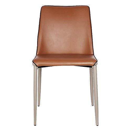 ShiSyan Dining Chair Office Chair in Pelle Sedia da Pranzo Sedia Moderna Minimalista Sedia di Svago Semplice assemblaggio Adatti Sedie da Cucina (Colore: Brown, Dimensione: 44x50x80cm) Poltroncine