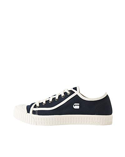 G-STAR RAW Herren Rovulc Denim Low Sneakers, Blau (Dark Navy 881), 44 EU