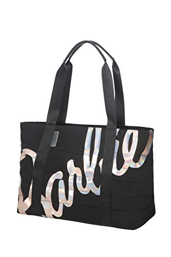 American Tourister Modern Glow Barbie - Tote Bag, Black (Shimmer Power Barbie)