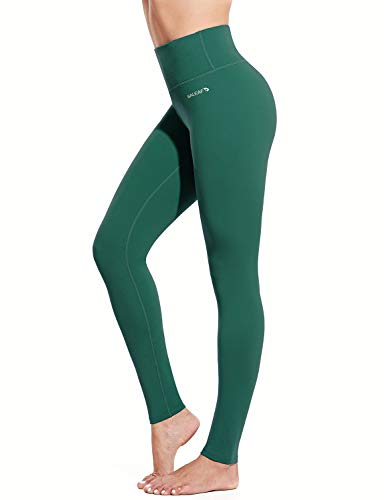 """BALEAF Women's 28"""" Naked Feeling Yoga Leggings High Waisted Tummy Control Athletic Pants Butter Soft Workout Leggings Forest Green Size M"""
