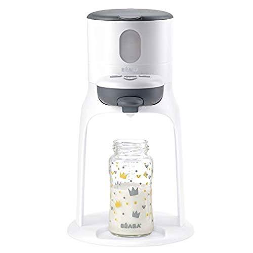 BÉABA - Bib'expresso - Flaschenzubereiter für Babys und Kleinkinder - Schnelle Einhandbedienung - Einstellbare Temperatur - Einfach, intuitiv und kompakt - Weiß