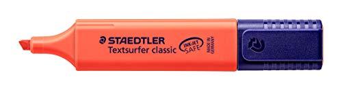 Staedtler Mars Highlighter, Broad Chisel Tip, Fluorescent Red (STD3642)