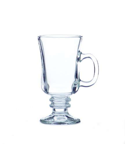Libbey 8-1/2-Ounce Irish Coffee Mug, Clear, Box of 12