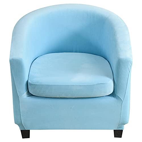 LHGBGBLN 1 pièces housse de canapé en velours extensible housse de chaise de club de loisirs extensible housse de canapé de baignoire housse de fauteuil élastique housse de protection lavable AquaBlue