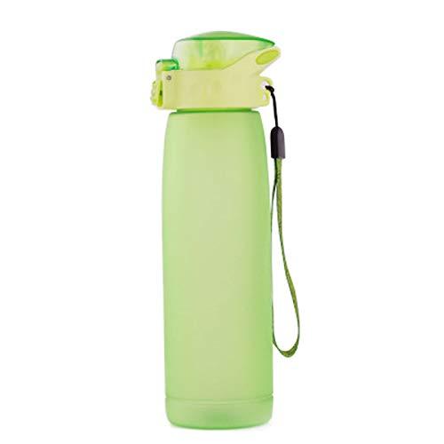 LBHH Botella de Agua Deportiva de 660 ml,Botella de plástico no tóxica sin BPA,diseño de Tapa abatible a Prueba de Fugas para Adolescentes,Adultos,Deportes,Gimnasio,Fitness