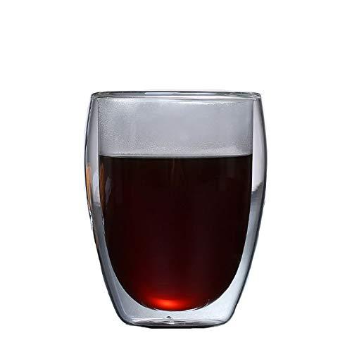 KINGBOO Doppelwandige Glas-Kaffeetassen, isoliert, Glas, Teetasse, Perfer-Gläser für Espresso/Cappuccino/Latte, 350 ml